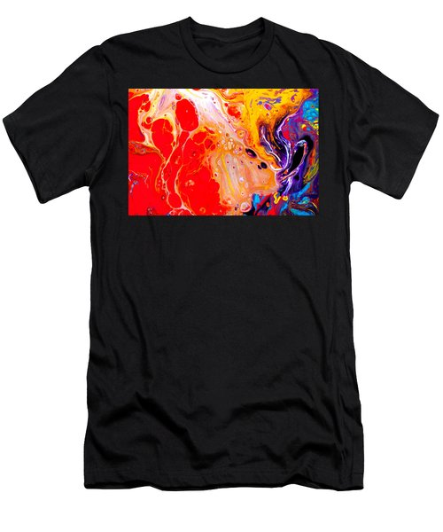 Singer - Colorful Abstract Painting Men's T-Shirt (Athletic Fit)