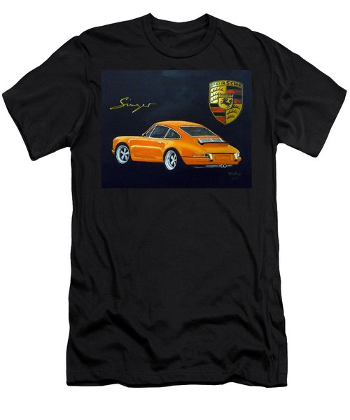 Men's T-Shirt (Athletic Fit) featuring the painting Singer Porsche by Richard Le Page