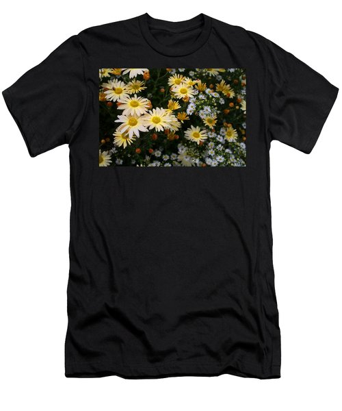 Men's T-Shirt (Slim Fit) featuring the photograph Single Chrysanthemums by Kathryn Meyer