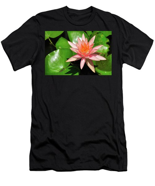 Single Flower Men's T-Shirt (Slim Fit) by Gandz Photography