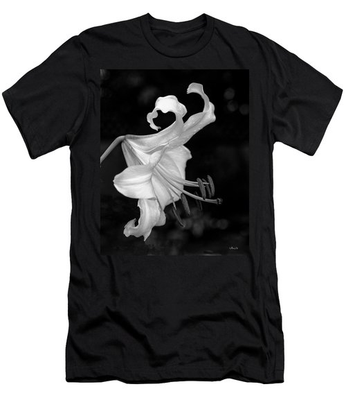 Single Lily In Black And White. Men's T-Shirt (Athletic Fit)