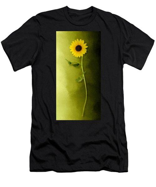 Single Long Stem Sunflower Men's T-Shirt (Athletic Fit)