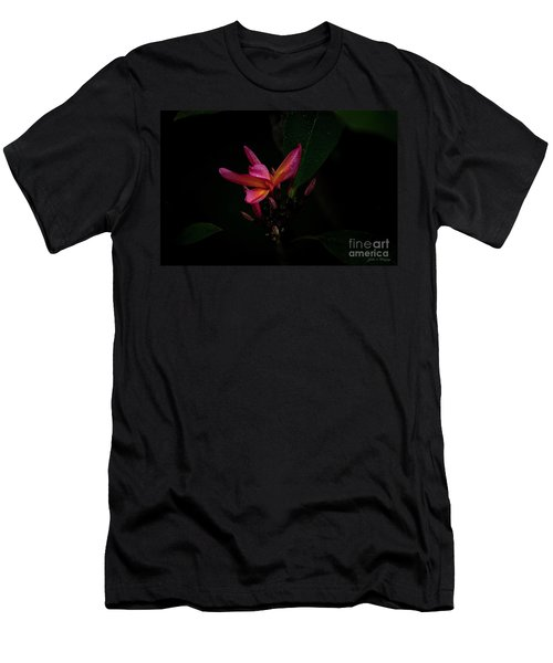 Single Red Plumeria Bloom Men's T-Shirt (Athletic Fit)