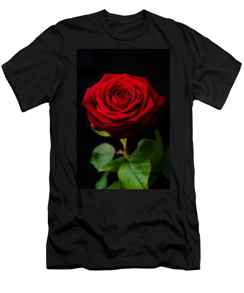 Single Rose Men's T-Shirt (Athletic Fit)