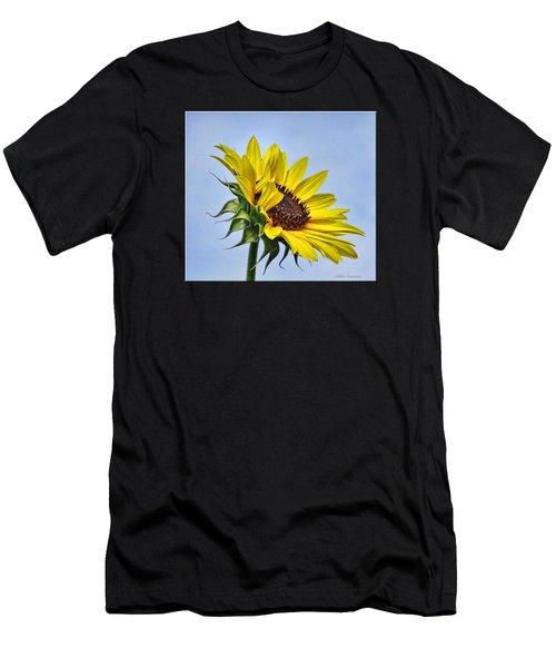 Single Sunflower Men's T-Shirt (Athletic Fit)