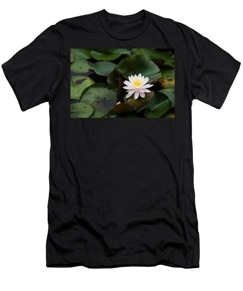Single White Pristine Lotus Lily Men's T-Shirt (Athletic Fit)
