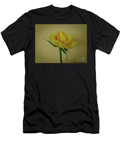 Single Yellow Rose Men's T-Shirt (Athletic Fit)