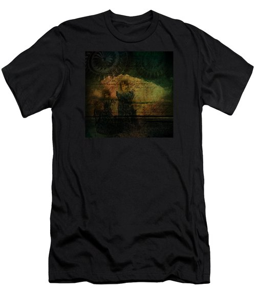 Men's T-Shirt (Athletic Fit) featuring the digital art Sisters At The Shore by Delight Worthyn