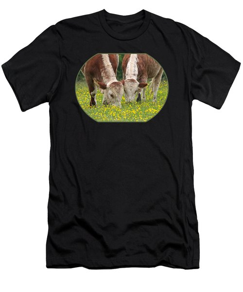 Sisters - Brown Cows Men's T-Shirt (Athletic Fit)