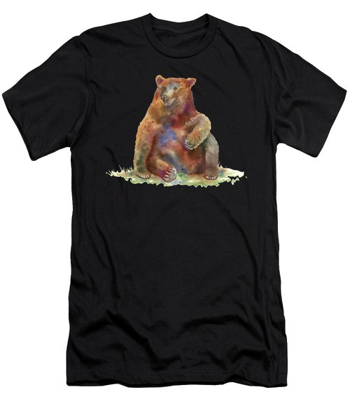 Sitting Bear Men's T-Shirt (Athletic Fit)