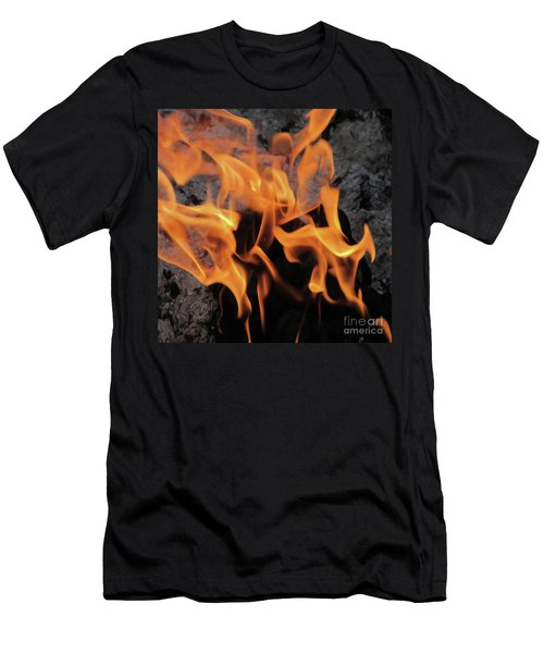 Sitting By The Crackling Fire Men's T-Shirt (Athletic Fit)