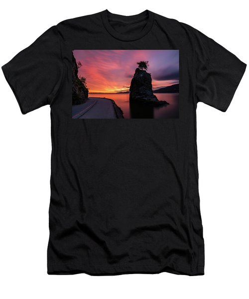 Siwash Rock Along The Sea Wall Men's T-Shirt (Slim Fit) by Pierre Leclerc Photography