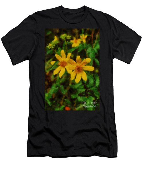 Sixteen Petals  Two Yellow Wildflowers Men's T-Shirt (Athletic Fit)