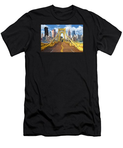 Sixth Street Bridge, Pittsburgh Men's T-Shirt (Athletic Fit)