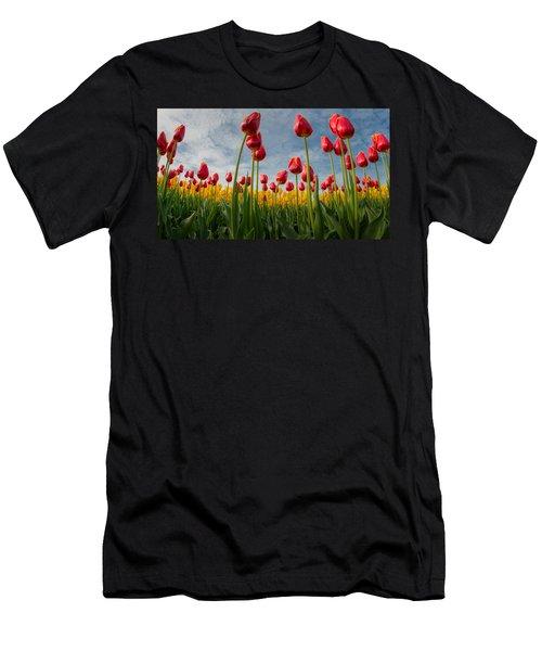 Men's T-Shirt (Slim Fit) featuring the photograph Skagit Valley Spring Joy by Dan Mihai