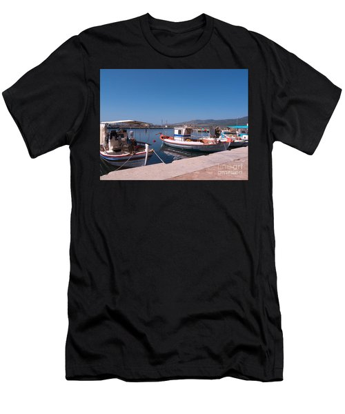 Skala Kalloni Lesvos Men's T-Shirt (Athletic Fit)