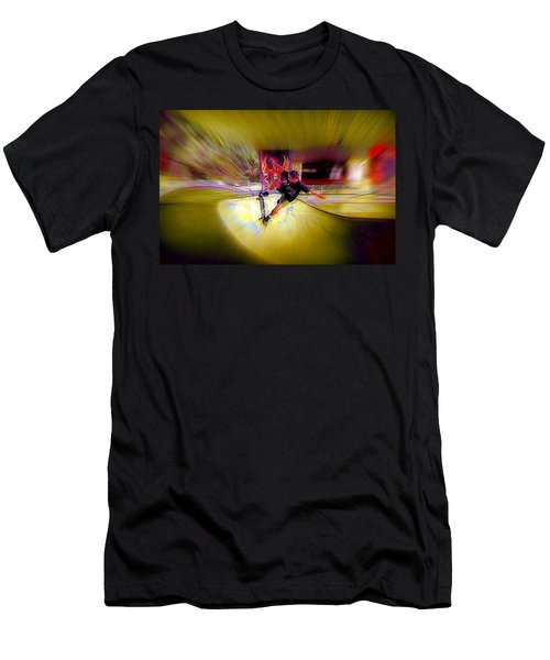 Men's T-Shirt (Slim Fit) featuring the photograph Skateboarding by Lori Seaman