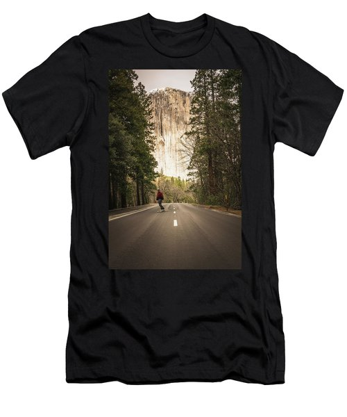 Skating Amongst The Giants Men's T-Shirt (Athletic Fit)