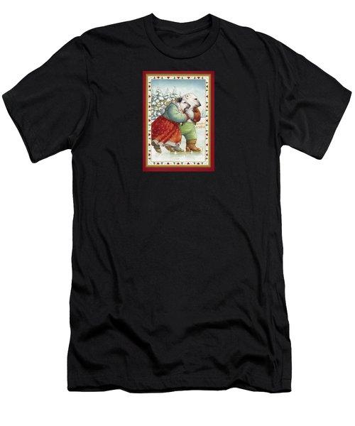 Skating Bears Men's T-Shirt (Athletic Fit)