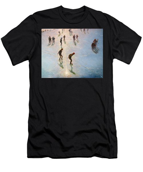 Skating In The Sunset  Men's T-Shirt (Athletic Fit)