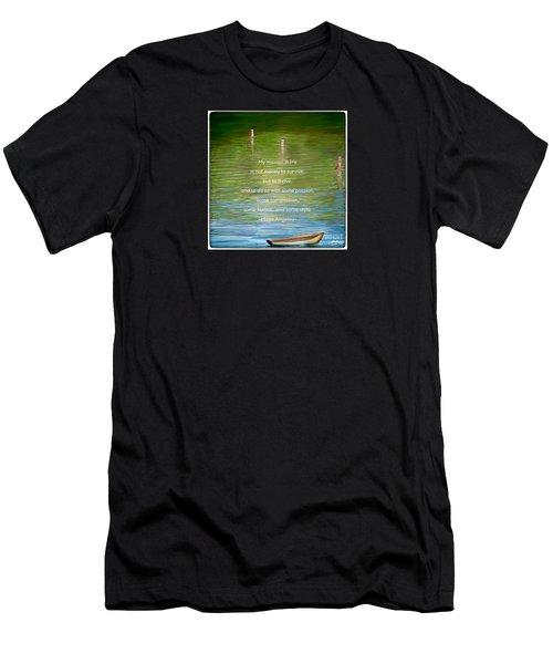 Skiff Boat Quote Men's T-Shirt (Slim Fit) by Susan Garren
