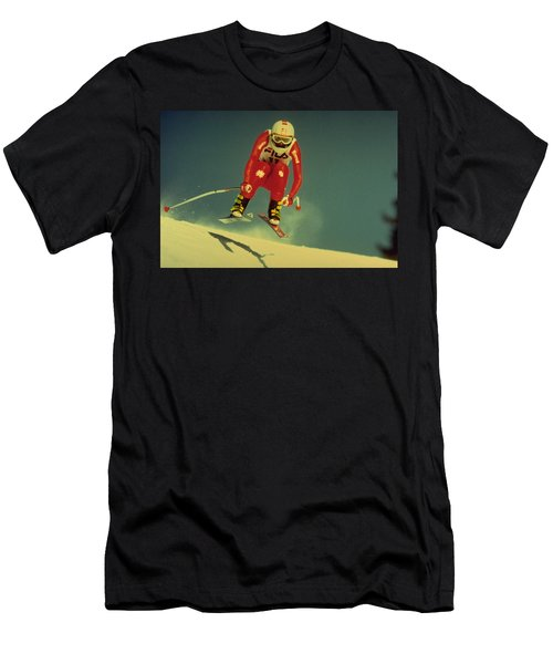 Skiing In Crans Montana Men's T-Shirt (Athletic Fit)