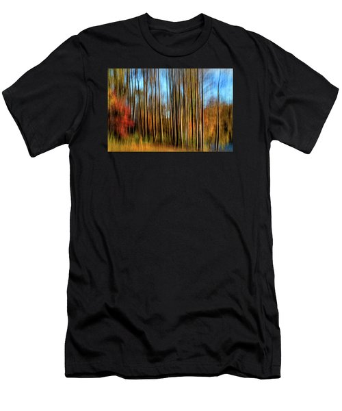 Skinny Forest Swipe Men's T-Shirt (Athletic Fit)