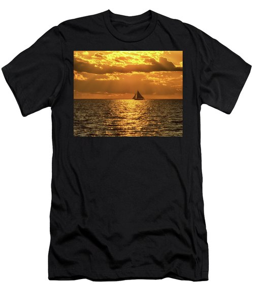 Skipjack At Sunset  Men's T-Shirt (Athletic Fit)