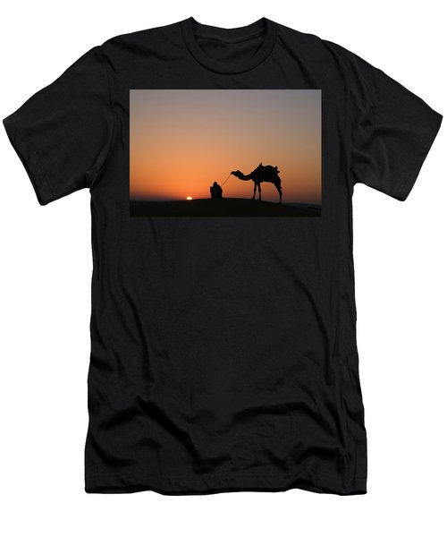 Skn 0870 Silhouette At Sunrise Men's T-Shirt (Athletic Fit)