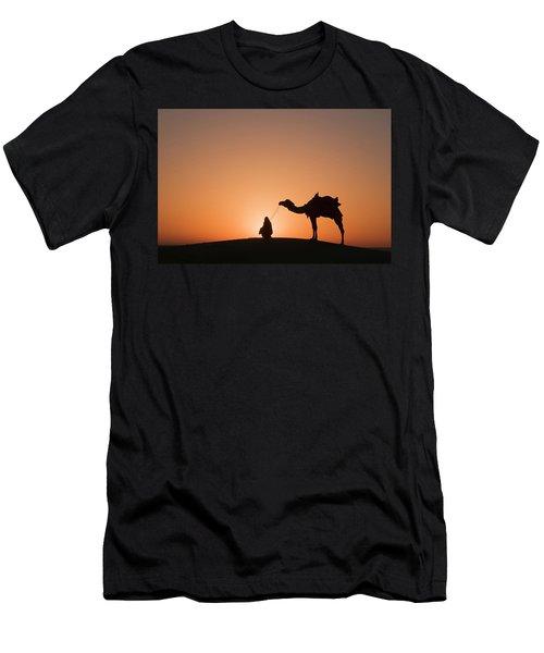 Skn 0893 Halo Of Sunrise Men's T-Shirt (Athletic Fit)