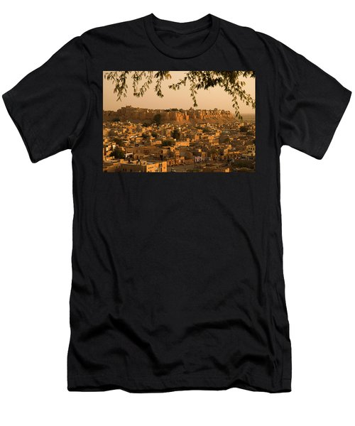 Skn 1334 Golden City Men's T-Shirt (Athletic Fit)