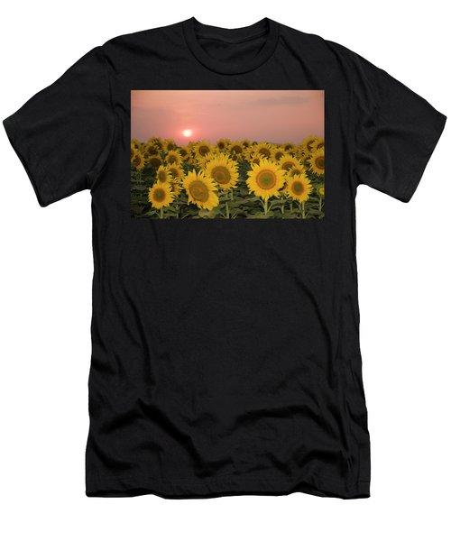 Skn 2179 Sunflower Landscape Men's T-Shirt (Athletic Fit)