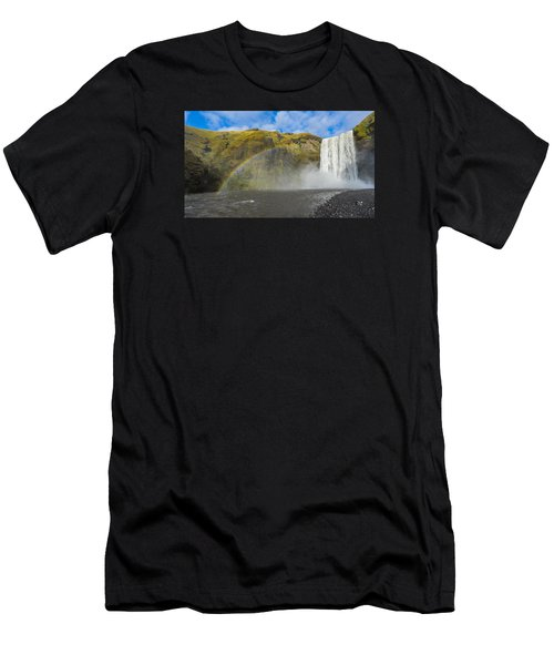 Men's T-Shirt (Athletic Fit) featuring the photograph Skogafoss Rainbow by James Billings