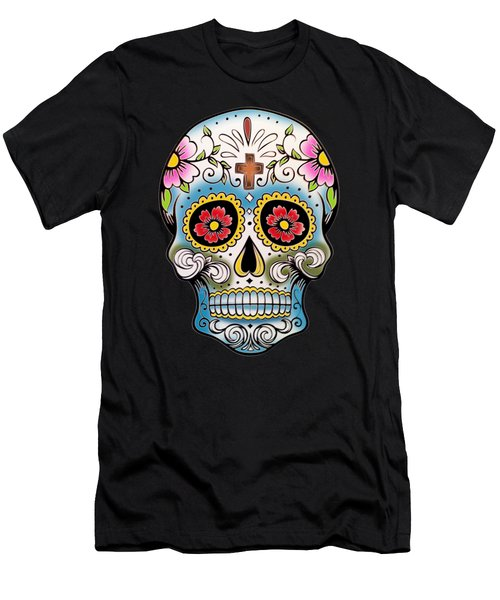 Skull 10 Men's T-Shirt (Slim Fit) by Mark Ashkenazi