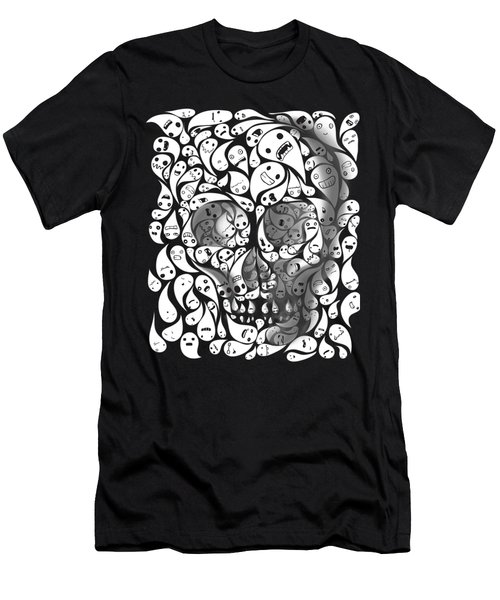 Skull Doodle Men's T-Shirt (Athletic Fit)