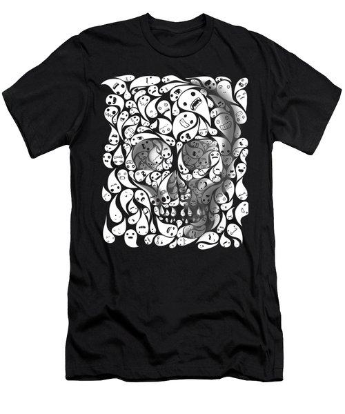 Skull Doodle Men's T-Shirt (Athletic Fit)