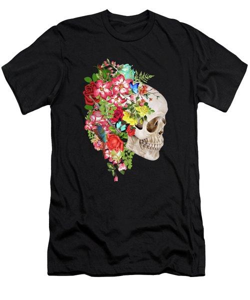 Skull Floral Men's T-Shirt (Athletic Fit)