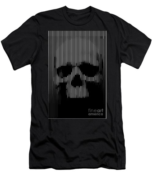 Skull Lines Men's T-Shirt (Athletic Fit)