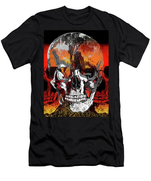 Skull Times Three Men's T-Shirt (Athletic Fit)