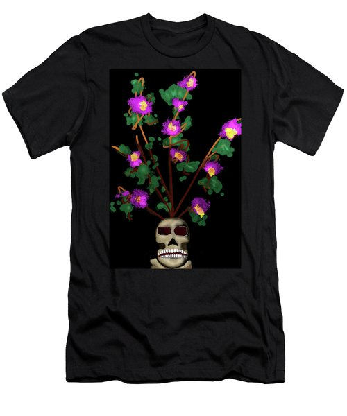 Skull Vase Men's T-Shirt (Athletic Fit)