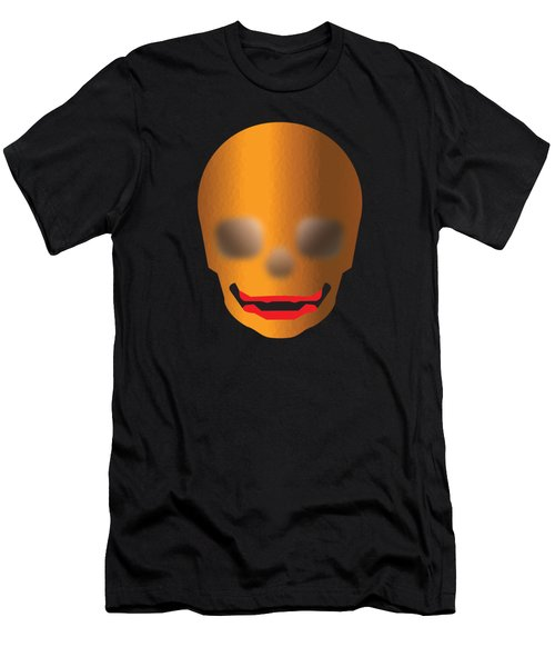 Skull With Lips Men's T-Shirt (Slim Fit) by Stan  Magnan