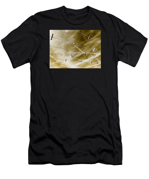 Men's T-Shirt (Athletic Fit) featuring the pyrography sky by Artistic Panda