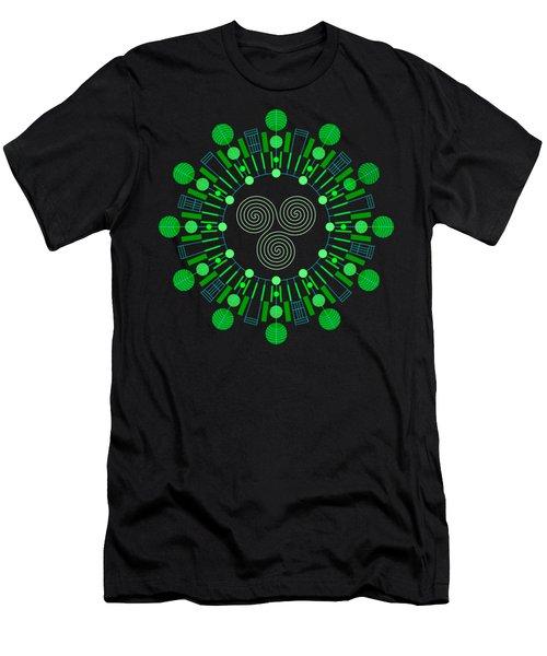 Sky Chief Color Men's T-Shirt (Athletic Fit)