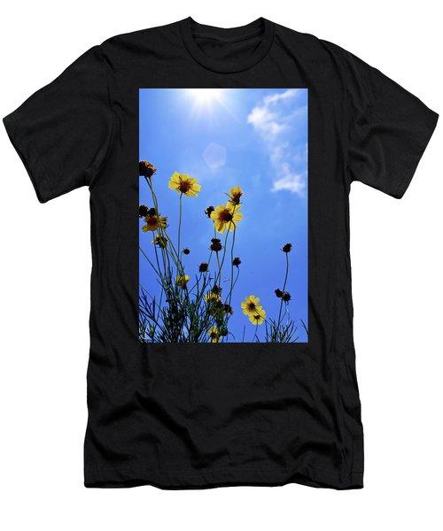 Sky Flowers Men's T-Shirt (Athletic Fit)