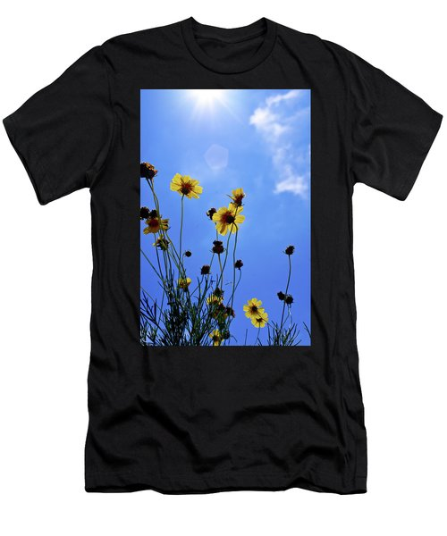 Sky Flowers Men's T-Shirt (Athletic Fit)