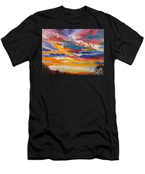 Flying Lamb Productions            Sky In The Morning Men's T-Shirt (Athletic Fit)