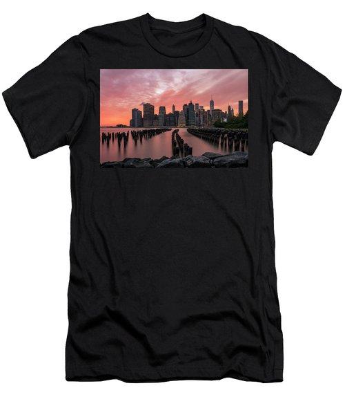 Sky Is Lit Men's T-Shirt (Athletic Fit)