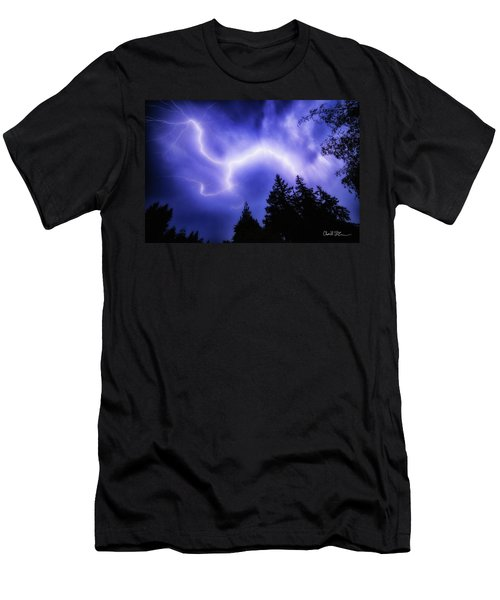 Sky Lightning Men's T-Shirt (Athletic Fit)