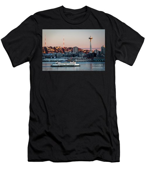 Space Needle.seattle,washington Men's T-Shirt (Athletic Fit)