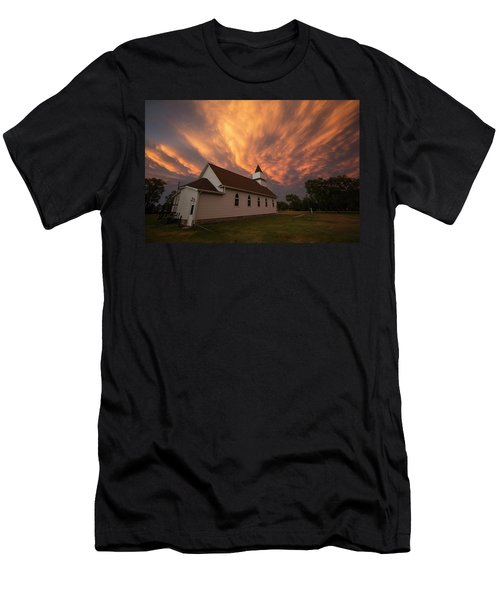 Men's T-Shirt (Athletic Fit) featuring the photograph Sky Of Fire by Aaron J Groen